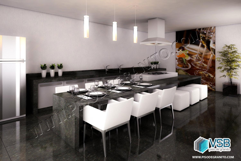 14 ideias para sua cozinha VSB Piso de Granito #2698A5 1500x1001 Bancada Banheiro Granito Verde Ubatuba