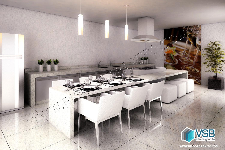 Granito é a opção certa para cozinhas VSB Piso de Granito #2698A5 1500x1001 Banheiro Com Granito Branco Ceara