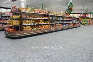 supermercado piso de granito